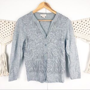 ⭐️ Sundance gray button down cardigan size XS